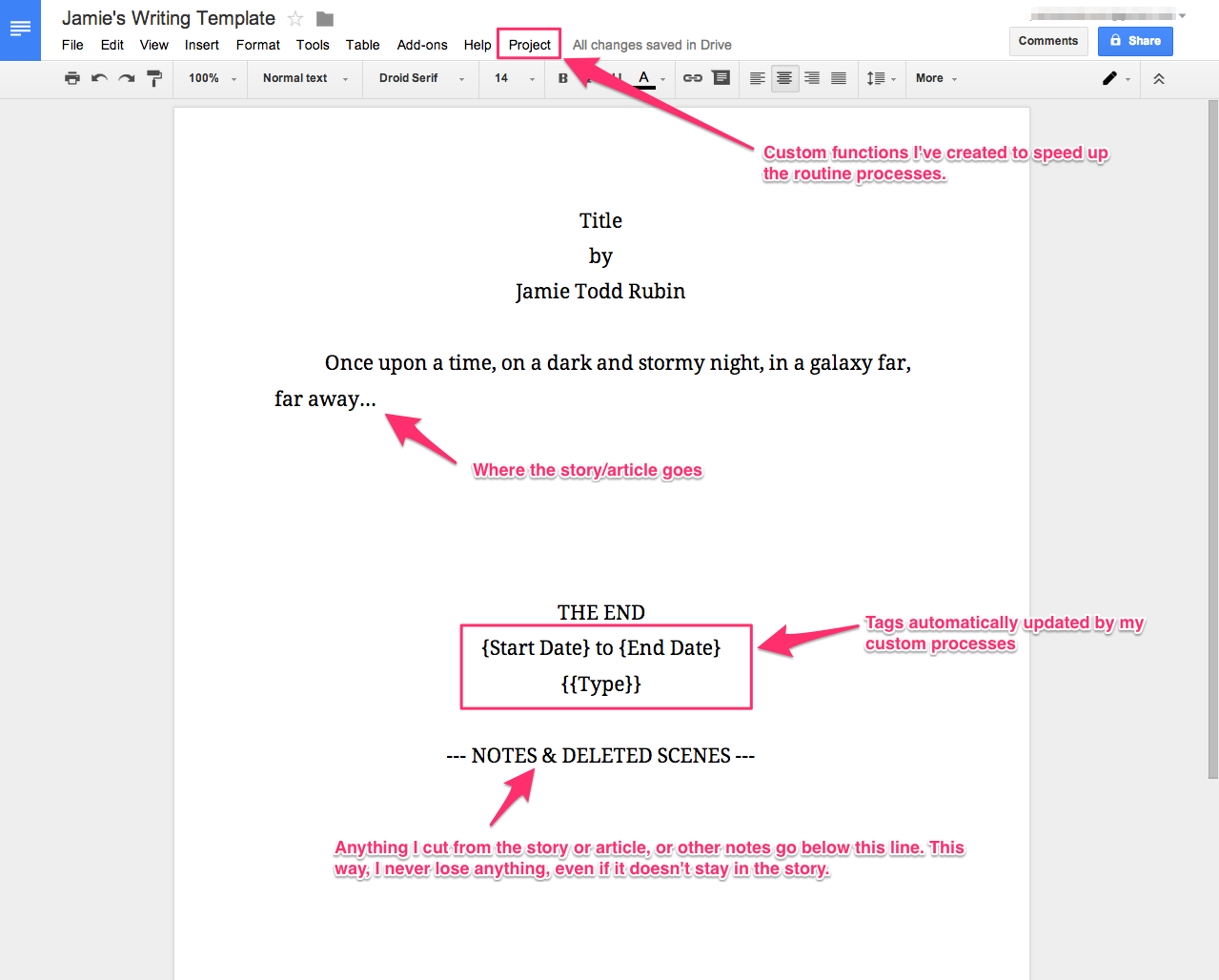 How i use google docs for writing jamie todd rubin google docs template pronofoot35fo Gallery