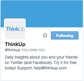ThinkUp on Twitter
