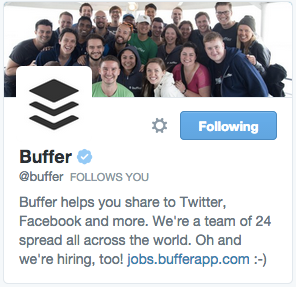 Buffer on Twitter