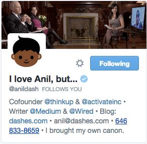 Anil Dash on Twitter