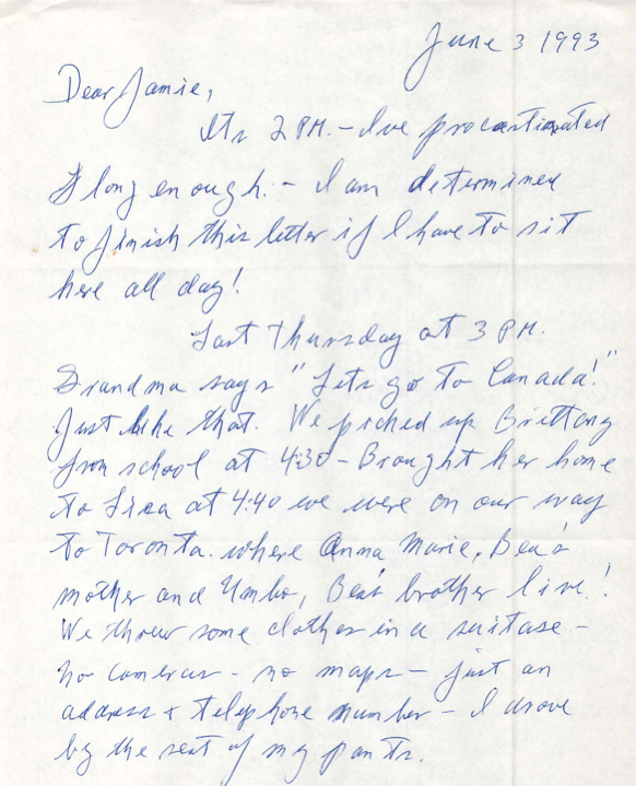 Letter from Grandpa – Jamie Todd Rubin